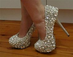 bling wedding shoes - not my first choice but I love them Bling Wedding Shoes, Bling Shoes, Bling Bling, Pearl Shoes, Sparkle Shoes, Rhinestone Shoes, Wedding Heels, Cute Shoes, Me Too Shoes