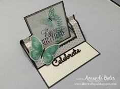 The Craft Spa - Stampin' Up! UK independent demonstrator : Swing Easel Card - Timeless Elegance & Watercolor Wings
