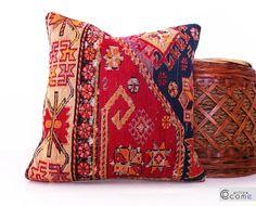 Silk Sumac Vıntage Rustic Cushion Naturel Colors by pillowcome