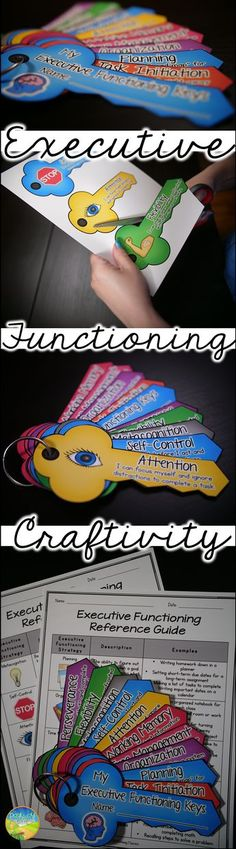 Executive functioning craft to help teach and practice skills. Social Emotional Learning, Social Skills, Study Skills, Life Skills, Counseling Activities, Speech Activities, Working Memory, School Social Work, Executive Functioning
