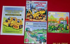 4 John Deere~Johnny Tractor Books~Working Together~PreK 1st 2nd Age 2-7