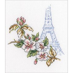 RTO-Counted Cross Stitch Kit. This kit will allow you to create a beautiful flower design that will make a great decoration for any room of the house once you have completed it. This package contains