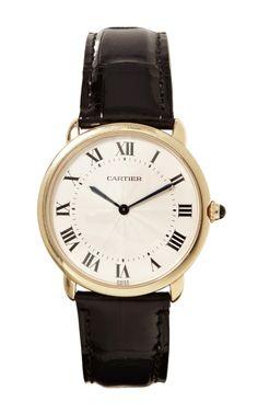 Cartier 18K Yellow Gold Ronde Louis Cartier Watch - Moda Operandi