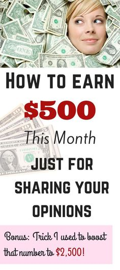 Learn how to earn $500 consistently every month with paid online surveys, and the secret trick I used to boost that number to $2,500! Work from Home | Make Money | Best Survey Sites | Jobs without college