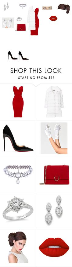"""chic outfit"" by helena94-1 on Polyvore featuring Simonetta Ravizza, Christian Louboutin, WithChic, MANGO, Disney, Bloomingdale's, Lime Crime and polyvorefashion"