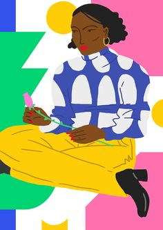 It's Nice That | Argentina-based Daiana Ruiz uses colour and shape to depict strong female characters