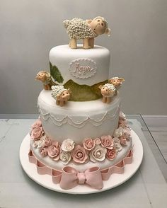 Shawn the Sheep and friends celebration cake Baby Shower Cakes, Baby Shower Parties, Baby Shower Themes, Sheep Cake, Lamb Cake, Baby Lamb, Cute Cakes, Girl Shower, Cake Art