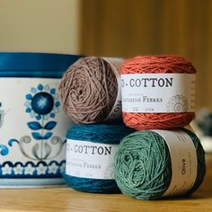 These four new colours of Nurturing Cotton Eco Cotton have just arrived! Pecan, Sahara, Olive and Baltic, I love them individually and together, they have a really vintage vibe about them! Wool Yarn, Knitting Yarn, Baby Knitting, Yarn Colors, Colours, Knitted Baby Clothes, Hand Spinning, Zero Waste, Yarns