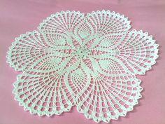 Crochet Doily, Round White Crochet Doily, Crochet Placemat, Crochet Table Center. $21.90, via Etsy.