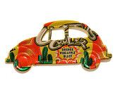 Cactus Cooler VOLKSWAGEN VW BUG Car - recycled soda can Magnet or Christmas ornament