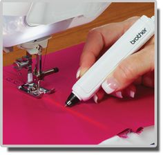V-Sonic Pen Pal helps make sewing and embroidery a breeze Brother Embroidery Machine, Machine Embroidery Projects, Embroidery Ideas, Applique Quilts, Embroidery Applique, Sewing Hacks, Sewing Tutorials, Destiny Ii, Brother Dream Machine