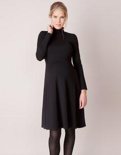 Robe de grossesse col roulé Vanessa - Noir les looks de la duchesse de Cambridge, Kate Middelton et ses coups de coeur en Seraphine