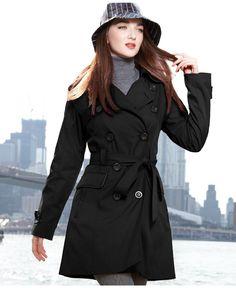 Classic. Jones New York Raincoat, Piped Trench Coat - Womens Coats - Macy's
