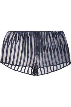 Kiki de Montparnasse - Shadow paneled silk pajama shorts 7f93e6136