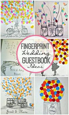 Check: Erin Hockinson on ‎Wedding Items in Omaha Nebraska... husband creates art on canvas for fingerprint guestbooks