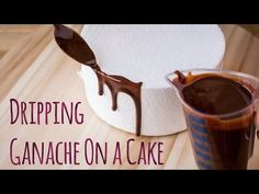 How to drip Ganache on a cake - Tutorial by Minh Cakes Bolo Drip Cake, Drip Cakes, Ganache Recipe, Pink Icing, Cake Youtube, Cake Tutorial, Sprinkles, Birthday Cake, How To Apply