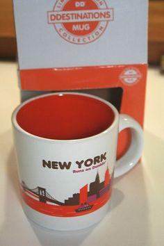 New York Dunkin Donuts Coffee Mug Destinations 14 oz Limited Edition 2013 NYC #DunkinDonuts