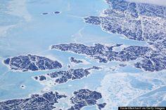 Groenlandia, en los vuelos noratlánticos.