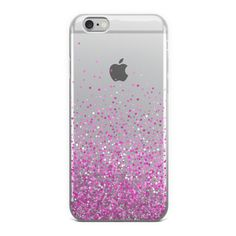 Abstract Pink Glitter Sprinkles iPhone Case