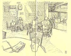 An artist's sketch of Spill the Beans // yeahTHATgreenville
