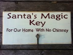 Santa's Magic Key on Etsy, $30.00. I can make this and cost a lot less. Its a great idea!