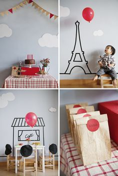 A birthday party inspired by the classic French film, The Red Balloon. | Lavender's Blue Designs