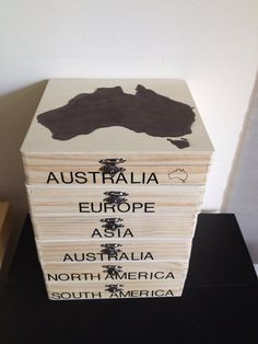 Montessori Inspired Continent Boxes All 7 door Montessoridownloads (te koop via etsy)