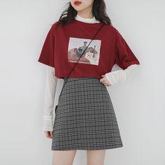 korean fashion Korean Fashion on Instagra - fashion Cute Casual Outfits, Edgy Outfits, Korean Outfits, Retro Outfits, Everyday Casual Outfits, Korean Clothes, Korean Fashion Trends, Korean Street Fashion, Asian Fashion