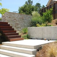 Modern Landscape Outdoor Stairs Design, Pictures, Remodel, Decor and Ideas