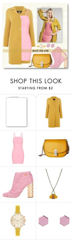 """ROCK THE VOTE:MUSTARD & PINK"" by shoaleh-nia ❤ liked on Polyvore featuring MaxMara, Marc Jacobs, Chanel, Atelier Maï Martin, Orla Kiely and Wolf & Moon"