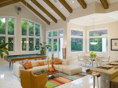 Florida Vernacular (Key West Style) Home   Contemporary   Family Room    Miami
