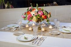 Vintage place settings from The Vintage Table Co.