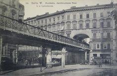 Berlin Schöneberg - Hochbahn an der Lutherkirche um 1900