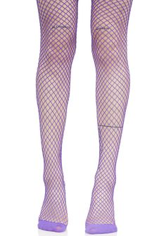 Violet Bold Move Fishnet Tights cuz yew ain't no boring b*tch, bb. Stand out from the crowd in these bright purple fishnet tights that feature a stretchy nylon construction that hugz yer curvez.