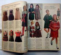 Vintage Sears catalog from Fall Winter 1965 Girls Summer Outfits, Summer Girls, Girl Outfits, Vintage Kids Clothes, Vintage Children, Vintage Patterns, Sewing Patterns, Chubby Girl, Old Magazines