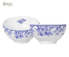 Jogo de Bowls Blue Garden - 500ml | Westwing - Casa & Decoração