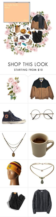 """Be Right Back"" by owlenstar on Polyvore featuring Converse, 1928, Chapstick, Pendleton, ETUÍ, BOBBY, Topshop, Levi's and Uniqlo"