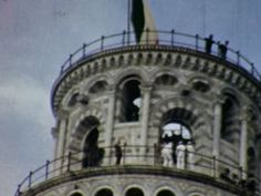 Tower of Pisa, Italy (Pisa) - 1961  - Home Movie Clips