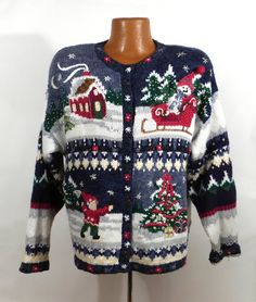 Ugly Christmas Sweater Vintage Tacky by purevintageclothing
