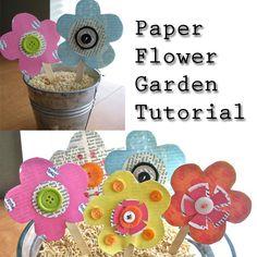 Paper Flower Garden Tutorial