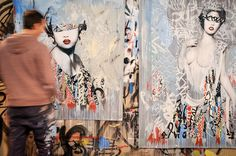 by HUSH - FATALES exhibit at The Outsiders, London 2013.