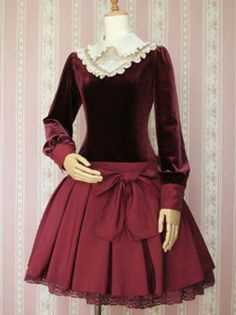 Red dresses by Victorian Maiden. 50 Fashion, Lolita Fashion, Kids Fashion, Fashion Outfits, Womens Fashion, Vintage Wear, Vintage Dresses, Vintage Fashion, Diesel Punk
