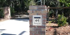 Letterbox built into brick pillar. #letterboxes