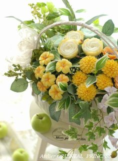 soap carving flower arrangement