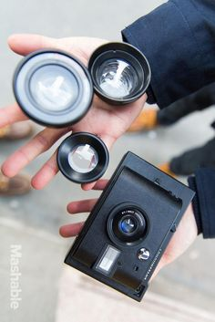 The Lomo'Instant camera's hooks include attachable lenses, colored gel filters and manual shooting modes.