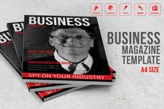 Business Magazine Template by Graphicslide on Creative Market