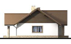 Elewacja zachodnia Mokka 4 Home Fashion, Cabin, House Styles, Home Decor, Home Plans, Mocha, Decoration Home, Room Decor, Cabins