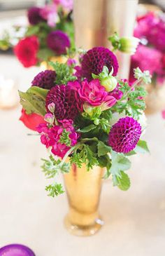 Jewel Tone Wedding Florals That Really Rock