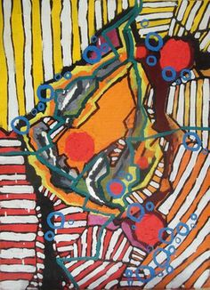 "Saatchi Online Artist Laura Vizbule; Painting, ""Fire"" #art"