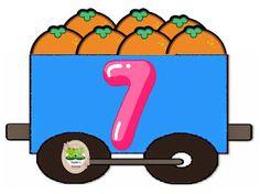 Números del 0 al 10 ~ Imágenes Creativas Toddler Learning Activities, Alphabet Activities, Math Activities, Math Numbers, Alphabet And Numbers, Train Clipart, Diy Classroom Decorations, Simple Math, Teaching Aids